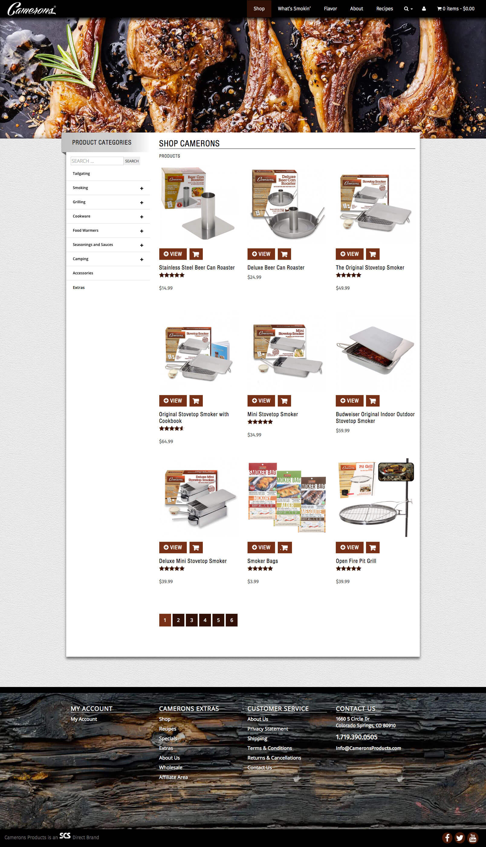 Camerons Products, designed and built by Katie Peterson, Front-End Web Developer/Designer, and Mike Sacco, Web Manager, at SCS Direct, Inc. in Trumbull, CT