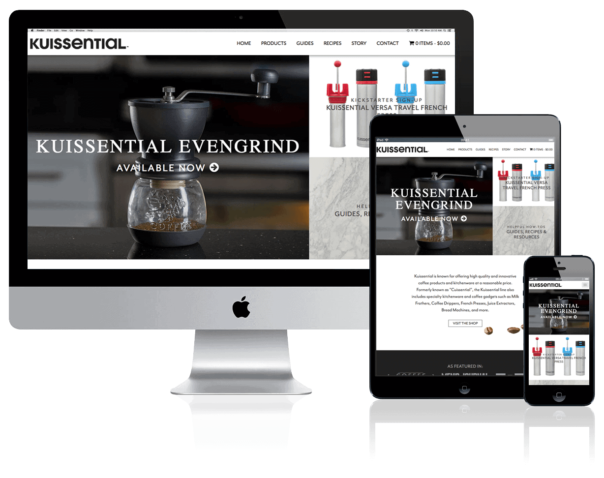 Kuissential Kitchen + Coffee, website design and build by Katie Peterson, Front End Web Developer and Designer at SCS Direct Inc. in New Haven, Connecticut